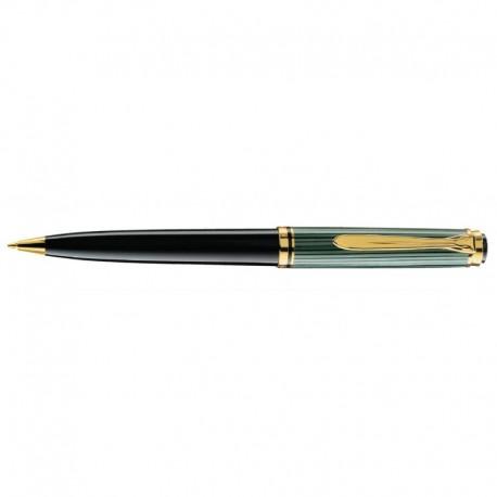 Pelikan Souveran 600 Black/Green Pencil Gold Trim