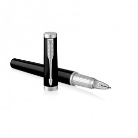 NEW Parker Ingenuity Large Black Lacquer Chrome Trim