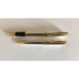 Sirocca Silver plated fountain pen bonus pencil